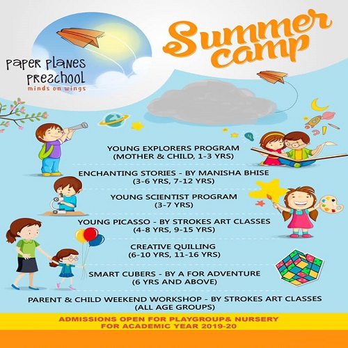 Paper Planes Preschool Summer Camp - YoungButterfly